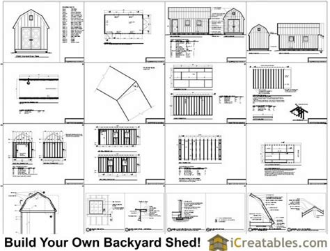 10 x 16 shed plans gambrel 10 x 20 gambrel shed plans goehs