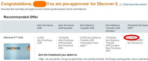 Smaller increases will be done with. View Your Personalized/Pre-Approved Discover Card Offers ...