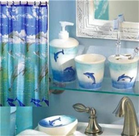 Complete 6 Pc Set Leaping Dolphin Bathroom With Shower