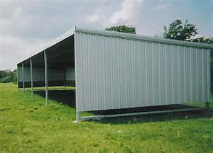 agricultural steel metal building erector contractor With 3 sided metal building
