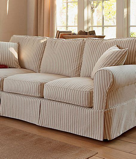 Jc Penney Sofas by Linden Friday Stripe Slipcovered Sofa Jcpenney