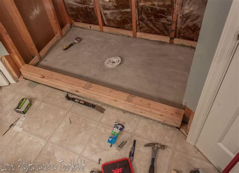 How To Tile A Shower by Diy Tile Shower Before And After Pasta And A