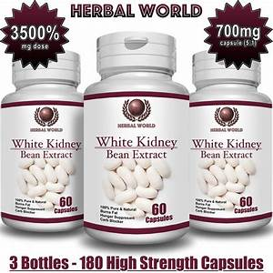 White Kidney Bean Extract 100  Pure 3500mg Carb Blocker Low Carb Diet Pills X 3b