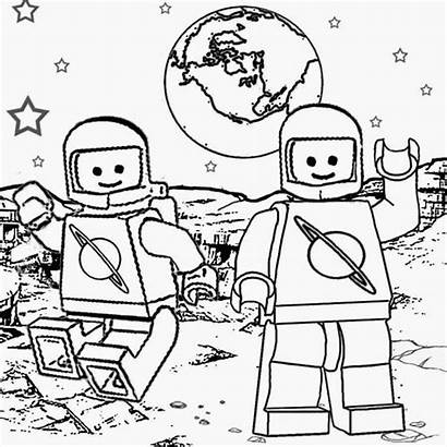 Coloring Space Pages Lego Step