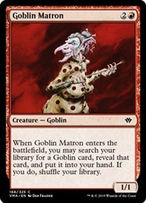goblin commander deck wort goblin matron vintage masters gatherer magic the