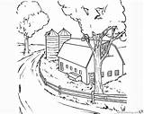 Barn Coloring Pages Realistic Clipart Printable sketch template