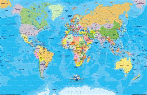 world political map cities