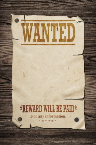 Old Wanted Sign Stock Photo - Download Image Now - iStock