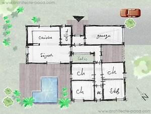 architecte et plan de maison plans de maisons bbc bois With plan maison bioclimatique gratuit