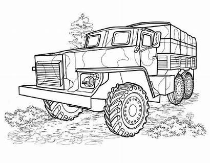 Coloring Army Vehicles Boys Coloringtop