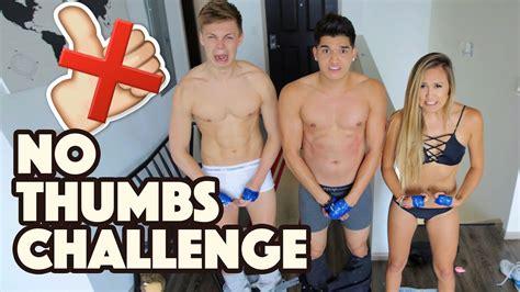 thumbs challenge ft caspar lee laurdiy youtube