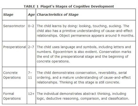 piaget s four stage development connecting data to 495 | piagets model of cognitive development