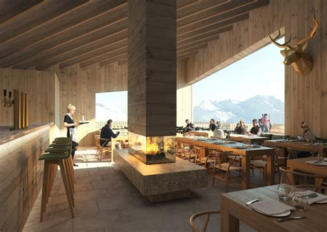 guetsch restaurant andermatt swiss alps  architect
