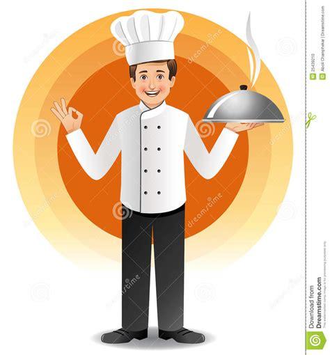 cuisine de a z chef chef avec cuire la cuisine à la vapeur illustration