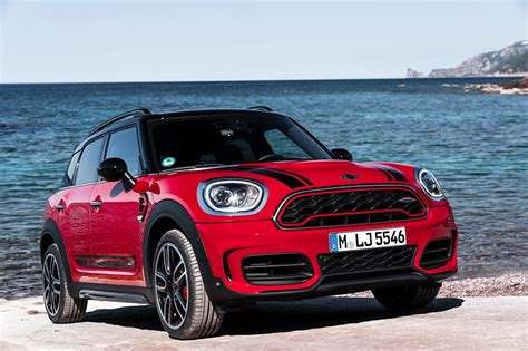 Pictures Mini 2017 John Cooper Works Countryman Red Automobile