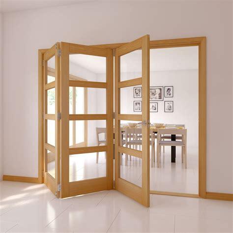 Kitchen Paint Ideas Oak Cabinets - 4 panel 4 lite oak veneer glazed internal folding door h 2035mm w 2374mm departments diy