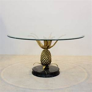 sculptural brass glass marble pineapple coffee table With pineapple coffee table
