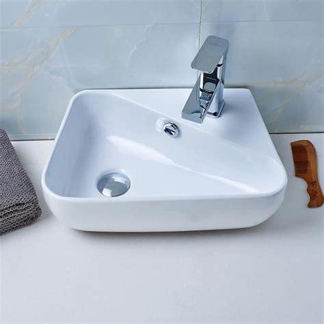 prix evier salle de bain aruhe 174 lavabo de salle de bain vasque 224 poser 201 vier en c 233 ramique blanc solide design moderne