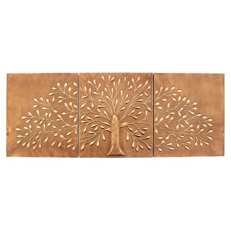One set per package (you will receive two wall panel decor pieces) 3-Piece Metal Wall Decor (Set of 2) | DCG Stores