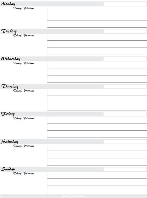 printable planner pages activity shelter