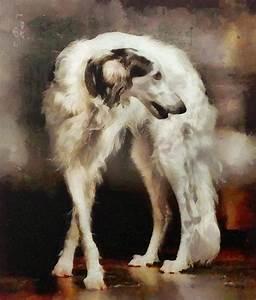 The Borzoi Uturn Painting by Janice MacLellan