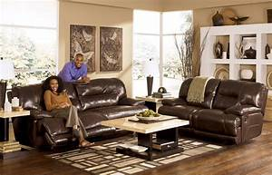 Ashley leather living room furniture for Ashley furniture living room photos