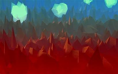 Polygon Poly Low Abstract Wallpapers Landscape Android