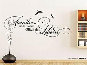 Wandtattoo Sprüche Familie : wandtattoo familie ist das wahre gl ck des lebens ~ Frokenaadalensverden.com Haus und Dekorationen