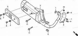 Honda Scooter 1998 Oem Parts Diagram For Muffler