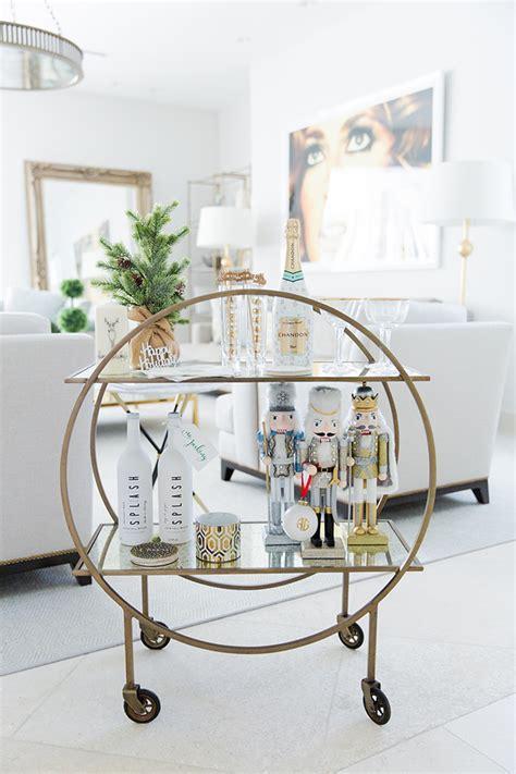 christmas bar cart ideas  wishing  warm