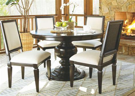 summer hill brown single  pedestal extendable dining