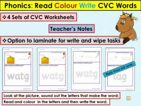 cvc onset rime activities worksheets read colour trace