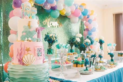 karas party ideas glamorous   sea birthday party