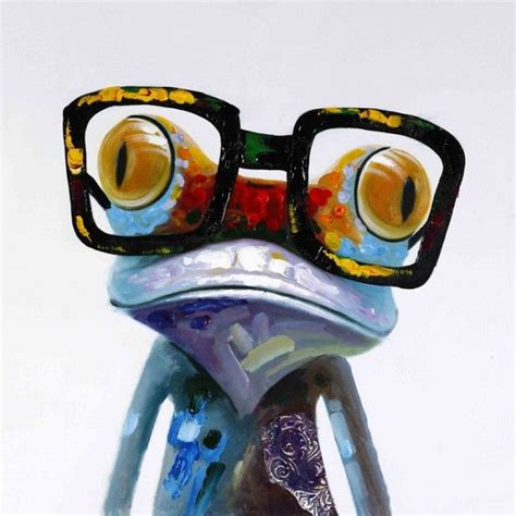 funky paintings  canvas funky frog painted canvas