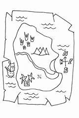 Treasure Coloring Map Paper Piece Christian Library Clipart Template Line sketch template