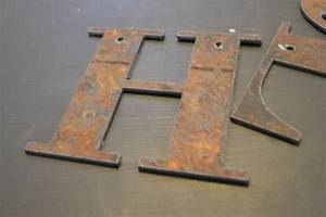 rusty metal letter 6 With metal letters