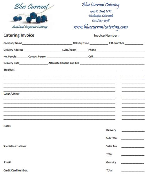 catering pricing template 28 catering invoice templates free demplates