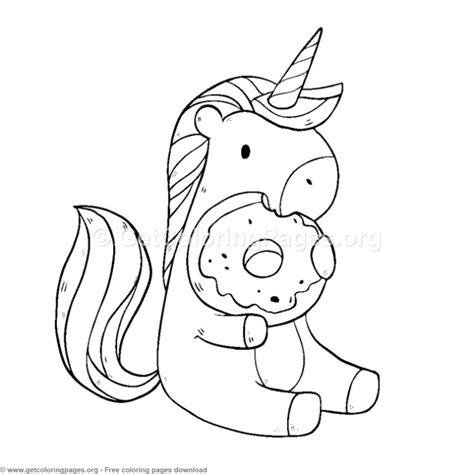 Unicorn Donut Kleurplaat unicorn donuts coloring pages