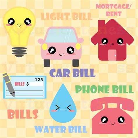 mortgage pay by phone kawaii monthly bills clipart bills mortgage phone