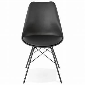 Chaise Style Industriel : chaise design style industriel sandro noir ~ Teatrodelosmanantiales.com Idées de Décoration