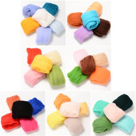 colors wool yarn roving fibre hand spinning diy craft