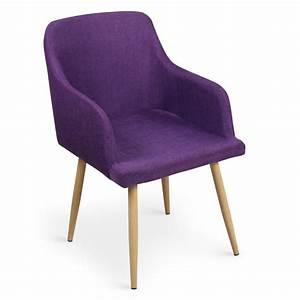 Lot 4 Chaises Scandinaves : lot de 4 chaises scandinaves lea violet pas cher scandinave deco ~ Teatrodelosmanantiales.com Idées de Décoration