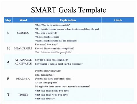 goal setting excel template excel templates excel