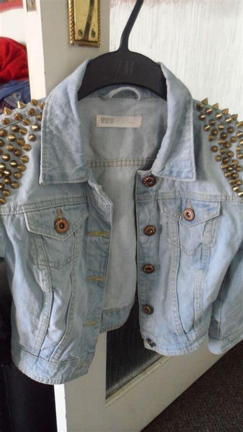 decorated denim jacket     denim jacket