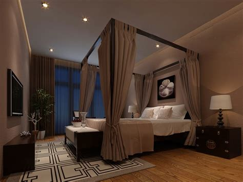 orchid  taupe chinese moody bedroom interior design