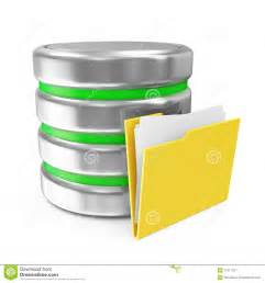 datenbank designer computer database symbol with folder royalty free stock photography image 27917257