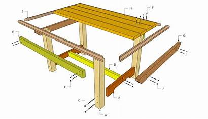 Plans Table Outdoor Wood Furniture Diy Woodworking