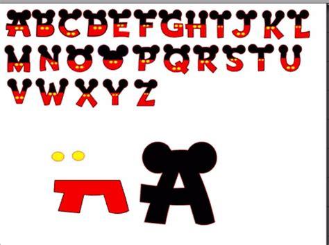 letras do abecedario do mickey silhouette alfabeto mickey completo r 5 00 em mercado