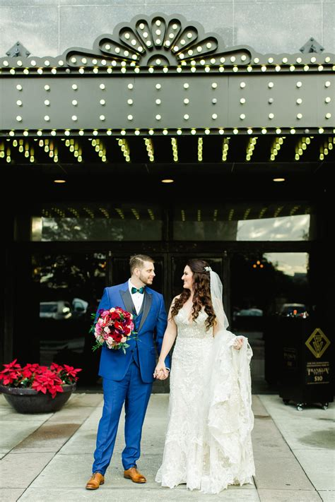 Bride and Groom Outdoor Downtown Tampa Wedding Portrait at