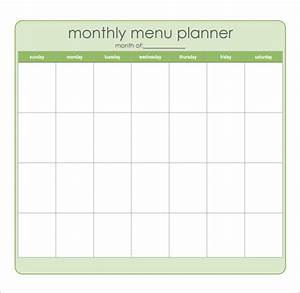 8 best images of sample monthly menu planner printable With monthly dinner menu template